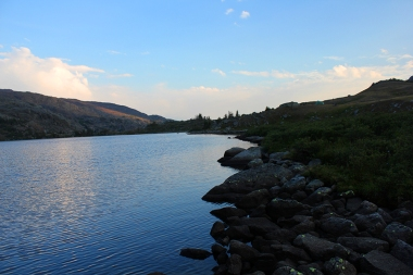 Mistymoon Lake at Dusk, Bighorn Mountains, Wyoming